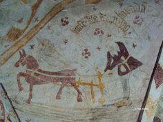 Kalkmålningar: Hästveda kyrka