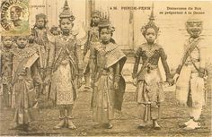 'Royal Khmer Dance Troupe preparing for a performance, 1900-1930 Phnom Penh': Traditional Textiles of Cambodia, Cultural Threads and M...