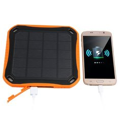 New 5600mAh Mobile Phone PC Tablet Solar Panel Charger Charging Battery Dual USB Power Bank Free Shipping | #PortablePhoneCharger Solar Panel Charger, Solar Panels, Portable Phone Charger, Usb, Free Shipping, Sun Panels, Solar Power Panels