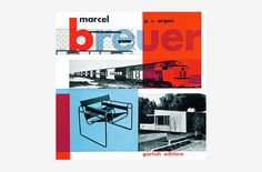 Marcel Breuer by Max Huber. 1957, Book. Design of a monograph issued by Rinascente to celebrate the work of Marcel Breuer on the occasion of the assignment of the Compasso d'Oro Award in 1955. Published by Görlich, Milan. Printed by Stabilimento Poligrafico G. Colombi. The cover features a series of color overprints generating a visually exciting layout and recalling the constructivist aesthetics typical to the Bauhaus. The color red, which in typography is considered as the second color…