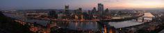 Pittsburgh   File:Pittsburgh dawn city pano.jpg - Wikipedia, the free encyclopedia