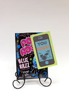 You Rock TEMPLATE: 118151 By Cynthia Coulon Double-sided Business Cards Personalize these cute cards and attach to Pop Rocks candy for an excellent Valentine's treat! Perfect for school children.