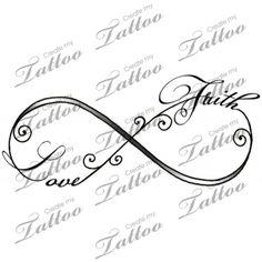 Marketplace Tattoo Infinity love and faith tattoo #13995 | CreateMyTattoo.com-I would add hope to this....