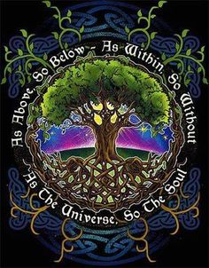 As above, so below. As within, so without. As the universe, so the soul.