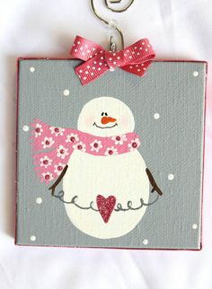 Check out this item in my Etsy shop https://www.etsy.com/listing/263976999/valentines-snowman-pink-glitter-mini