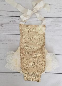 7274a12cfca Baby girls gold 1st birthday outfit-gold and ivory birthday-glitter crown  headband-gold glitter bubble romper headband set-cake smash outfit