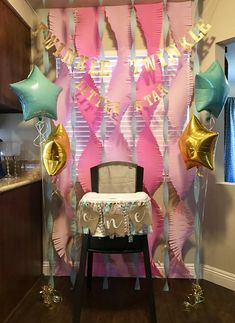 Twinkle Twinkle Little Star First Birthday Decor, ONE Highchair Banner High Chair Decor Idea Birthday Highchair Decorations, First Birthday Decorations Girl, First Birthday Themes, Birthday Star, Baby Girl 1st Birthday, Birthday Ideas, Princess Birthday, Star Party, 1st Birthdays