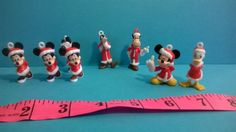 Disney Necklace Charms Minnie Mickey Goofy Donald Horace Christmas Vintage