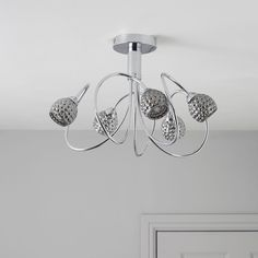 Karyn Swirly Chrome Effect 5 Lamp Ceiling Light | Departments | DIY at B&Q