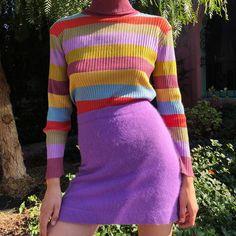 Vintage knits coming soon. 90s Fashion, Autumn Fashion, Vintage Fashion, Fashion Outfits, Womens Fashion, Fashion Trends, Fashion Boots, Stage Outfit, Daphne Blake