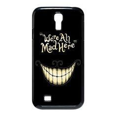 Alice in Wonderland We're all mad here Cheshire Cat Smile Face Unique Durable Hard Plastic Case Cover for SamSung Galaxy S4 I9500 Custom Des...