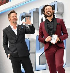 """Chris Pine Photos - Actor Chris Pine and host Alex Zane attends the UK Premiere of Paramount Pictures """"Star Trek Beyond"""" at the Empire Leicester Square on July 12, 2016 in London, England. - 'Star Trek Beyond' UK Premiere"""