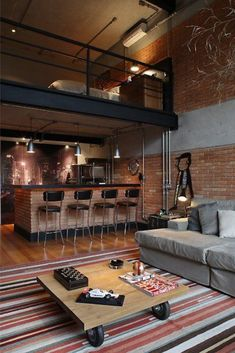 Fall in Love With This Industrial Loft Design! Vintage industrial style decor trends to make Fall in Love With This Industrial Loft Design! Vintage industrial style decor trends to make a lasting impression in your guests! Loft Interior, Interior Design, Modern Interior, Loft Design, House Design, Design Design, New Yorker Loft, Industrial Loft, Vintage Industrial