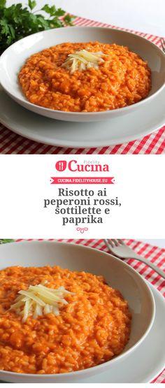 #Risotto ai #peperoni rossi, #sottilette e #paprika della nostra utente Gloria. Unisciti alla nostra Community ed invia le tue ricette!