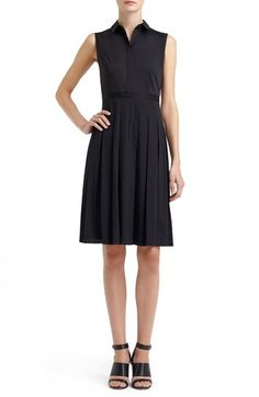 Lafayette 148 New York 'Sade' Sleeveless Laser Cut Fit & Flare Dress available at #Nordstrom