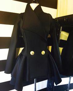 Nicci Hou Collection Lady Peplum Jacket in Black #niccihou #niccihoucollection