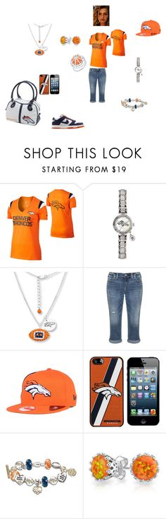 """DENVER IN MY BLOOD"" by amarra-jade on Polyvore featuring NIKE, Silver Jeans Co., New Era, The Bradford Exchange, Bling Jewelry and Arya Esha"