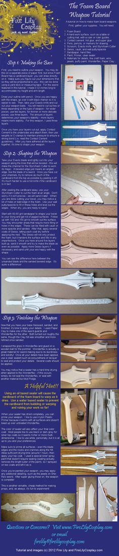 Foam Board Weapon Tutorial | Cosplay Blog... with a Brain!