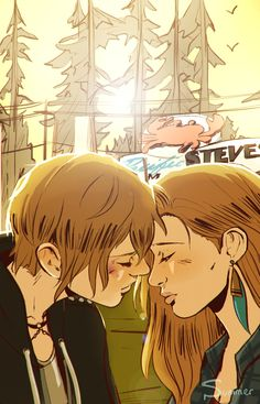 """summerfelldraws: """"Don't be surprised, Chloe. If one day, I'm just… Out of here. """""""