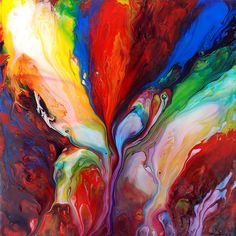 Flowing Acrylic Paint by markchadwickart, via Flickr