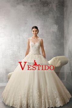 2016 vestidos de boda de la cucharada de cola con cuentas y apliques US$ 339.99 VEPBRRGELT - 2016Vestido.com for mobile
