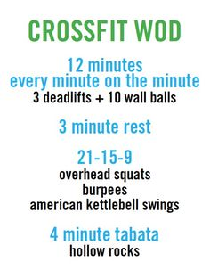 crossfit work out (WOD)