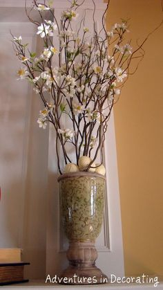 Vase from Tuesday Morning filled with real branches and faux florals