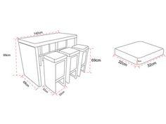 de jardin haut en résine tressée : table haute + 6 tabourets TENSHO