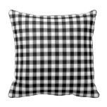 Modern black and white fashion gingham pattern pillow more great gift ideas at www.dramaticallycorrectdesigns.com