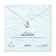 Capture the perfection of all things summer with Dogeareds Silver Forever Summer Anchor Necklace. O......Price - $56.00