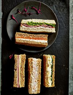 Buy the Afternoon Tea Sandwich Fingers Pieces) from Marks and Spencer's range. Tea Party Sandwiches, Finger Sandwiches, Honey Roast Ham, Vegan Teas, Afternoon Tea Parties, Catering Menu, Coffee Recipes, High Tea, Food And Drink
