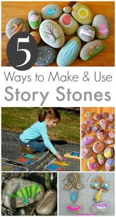 Story Stones Ideas - 5 Ways to Make and Use Story Stones with Kids by batjas88