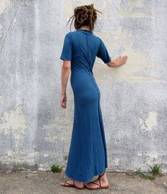 Warrior Simplicity Long Dress light by gaiaconceptions on Etsy, $155.00
