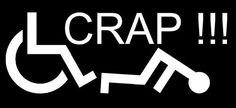 FELL OFF A WHEELCHAIR CRAP decal sticker, handicap, awesome, funny, wheelie #TheVynilShop