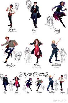 Six of Crows, Crooked Kingdom, Inej, Kaz Brekker, Matthias, Jesper