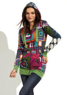 OMG This stuff is sooooo me! I miss dressing like me. DESIGUAL  Cheshire Cat Hoodie