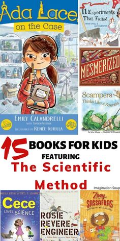 Read picture books and chapter books that show the thinking in the scientific method-- from making observations all the way to drawing conclusions. Science Notebooks, Science Books, Teaching Scientific Method, What Is A Scientist, Science Experiments, Science Fun, Teaching Science, Middle School Science, Physical Science