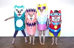 Kid's Paper Dressing-Up Costumes by OMY