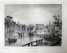 Hoorn-de Binnenhaven | Herkomst : J.L. Terwen - Het Koningrijk der Nederlanden, afm. 14 x 20 cm Staalgravure 1860