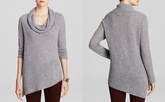 Magaschoni Asymmetric Cowl Cashmere Sweater