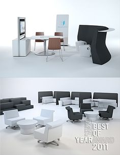 Contract/Desking and Systems. Gather collection by Allsteel.
