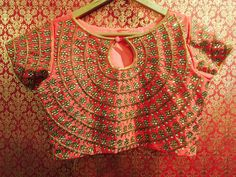 Love d design Best Blouse Designs, Bridal Blouse Designs, Saree Blouse Designs, Choli Designs, Lehenga Designs, Embroidery Fashion, Cutwork Embroidery, Stone Work Blouse, Maggam Work Designs