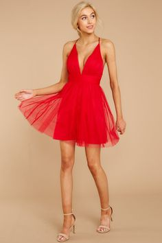553257230a2 My Fairytale Ending Deep. Short Red DressesSpring DressesProm ...