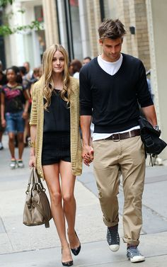 Olivia Palermo: my style icon! Fashion Couple, Look Fashion, Mens Fashion, Fashion Menswear, Looks Street Style, Looks Style, Mode Man, Olivia Palermo Style, Cooler Look