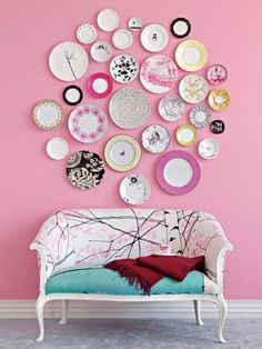 Another #upcycle project: take old plates and turn them into wall art