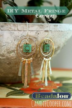 Metal Fringed Earrings from Candie Cooper with Beadalon products