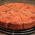 Gâteau au chocolat et au panais