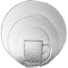 Gibson Home Riverina 16-Piece Glass Dinnerware Set
