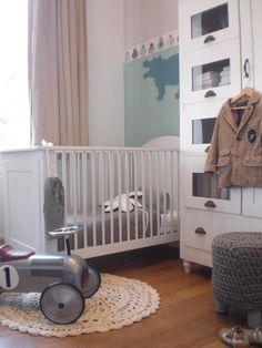 babykamer wit grijs groen