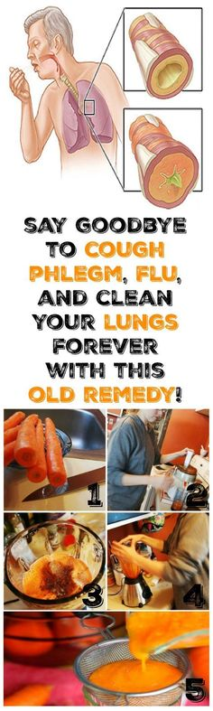 Say Goodbye To #Cough #Phlegm, #Flu, and Clean The #Lungs Forever With This Old #Remedy